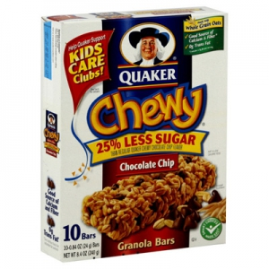 Quaker Chewy Granola Bars Chocolate Chip Flavor