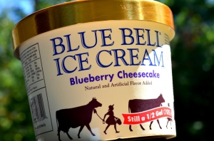 Blue Bell Ice Cream Blueberry Cheesecake