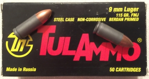 TulAmmo bullets in 9mm Luger