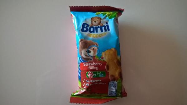 Barni soft cake with strawberry filling, by Mondalez International