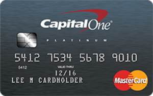 Personalized capital one card