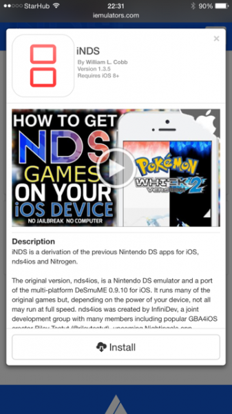 iNDS - A NDS Emulator for Apple Devices review