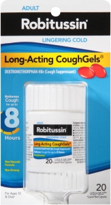 Robitussin Long-Acting Cough Suppressant Cough Gels