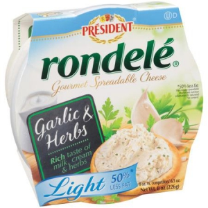 President Rondele Garlic and Herb Gourmet Light Spreadable Cheese