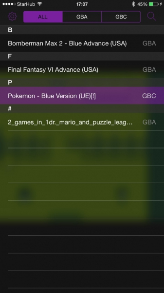 GBA4iOS (Gameboy Emulator)