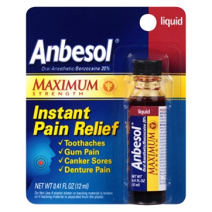 Anbesol Maximum Strength Liquid for Toothache Pain