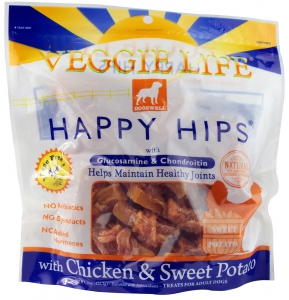 Dogswell Veggie Life Happy Hips Dog Chews, Chicken and Sweet Potato