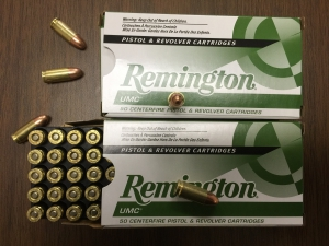 Remington UMC ammo for 9mm Luger