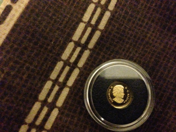 Rocky Mountain Bighorn Sheep - (2014) - Pure Gold Coin (0.5g)