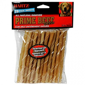 Hartz All Natural Rawhide Prime Beef Chew Sticks