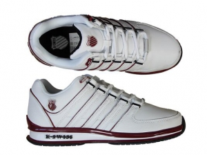 Mens White and Silver K-Swiss Rinzler Trainers