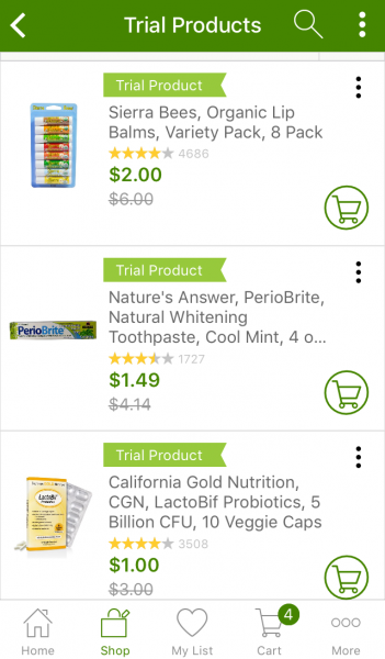 Iherb natural products shopping app