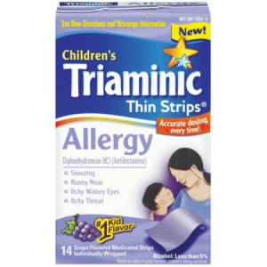 Infant Triamenic allergy strips