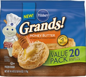 Pillsbury Grands! Honey Butter Frozen Biscuits