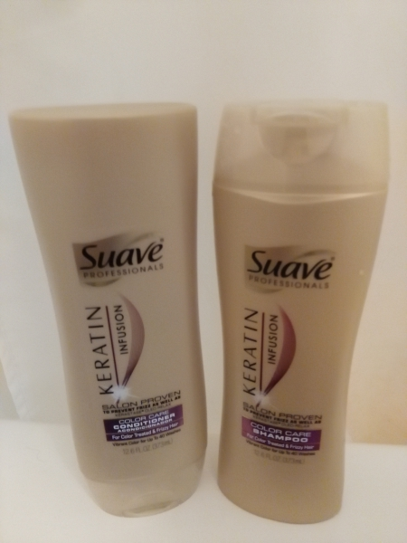 Suave Professionals Keratin Infusion Color Care Shampoo and Conditioner