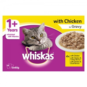 Chicken Dinner in Gravy Whiskas in Sachet
