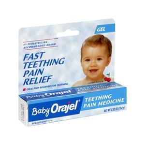 baby orajel teething pain gel cherry flavored review