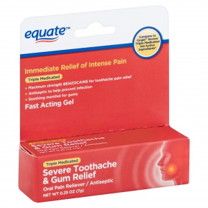 Equate Triple Medicated Severe Toothache and Gum Relief Gel