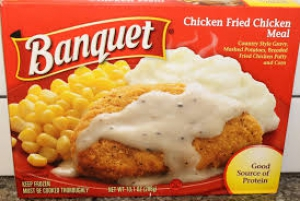 Chicken Fried Beef Steak Meal by Banquet (Frozen Dinner)