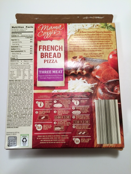 Mama Cozzi Three Meat French Bread Pizza Review